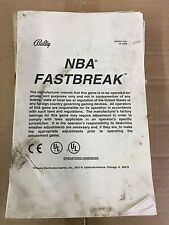 Nba Fastbreak Pinball Machine Operator's Handbook Manual