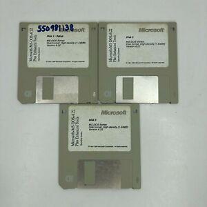 OEM MS-DOS 6.22 Plus Enhanced Tools Set of 3 1.44mb Floppy Disks Diskettes
