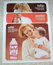1963 old advertising - Staley's Sta-Puf diaper laundry CUTE baby PRINT AD Advert