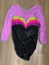Dreamlight Gymnastics competition leotard AS black purple pink green girls
