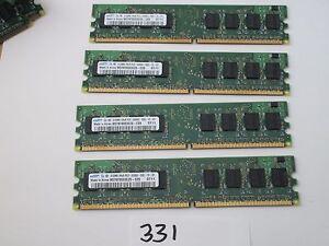 Samsung M378T6553EZS-CE6 4x512Mb=2Gb PC2-5300 667Mhz DDR2 Desktop Memory RAM 331