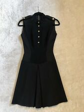 Victoria Beckham Military Style Black fitted dress A line dress size 8