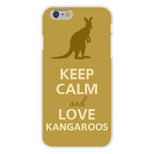 Keep Calm and Love Kangaroos Silhouette FITS iPhone 6+  Snap On Case Cover New