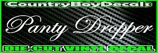 Panty Dropper VINYL DECAL STICKER Car Truck Turbo Boosted 4X4 Diesel Funny 4X4