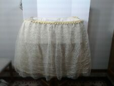 Vintage Lace Baby Bassinet Skirt Yellow