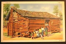 Postcard Black Americana Large Family Cabin Dog Seven Up S431 Happy South Series