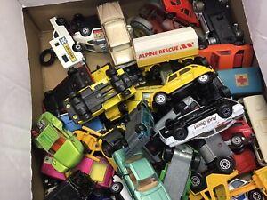 Job lot  vintage Matchbox/Lesney/Dinky Cars-various Condition 50+ (Lot 1)