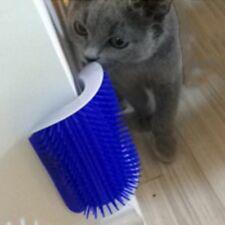 US Pet Cat Self Groomer Brush Wall Corner Grooming Massage Comb With Catnip