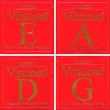 Larsen Virtuoso Violin String Set - Medium Gauge - Loop End E