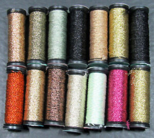 14x Needlepoint/Embroidery THREAD KREINIK 8 & 12 Braid metallic-NJ50