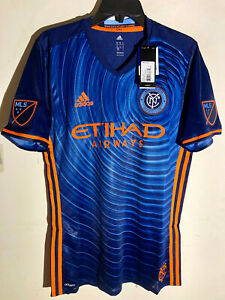 Adidas Authentic MLS Team Jersey New York City FC Blue sz M