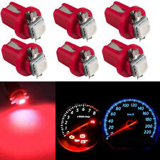 10x Red B8.5D T5 LED Car Instrument Cluster Panel light Bulb Gauge Dashboard