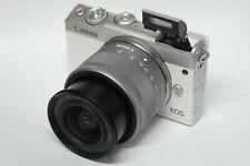Canon EOS m100 blanco con ef-m 15-45 mm objetivamente B-Ware distribuidores m 100