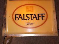 "Falstaff Beer Sign Electric Lighted Point-of-Sale Bar Fixture Vintage Mancave 4"""