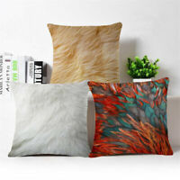 "Peacock feathers Cotton Linen Throw Pillow Case Cushion Cover Home Decor 18""*18"""