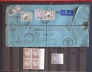 Nairobi Palestine Cover 1944 Reg.Letter Kenya Uganda 1938-54 Variety sc#84a &MNH