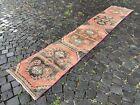 Handmade rug, Runner rug, Turkish rug, Vintage, Wool rug, Carpet   1,9 x 10,3 ft
