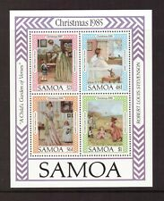 Samoa MNH 1985 Christmas sheet mint stamps