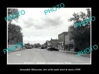OLD LARGE HISTORIC PHOTO OF ANNANDALE MINNESOTA, THE MAIN STREET & STORES c1940