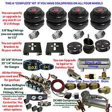 Air Suspension Kit-COMPLETE Coils Front/Rear Stainless 3-gal Tank Descript below