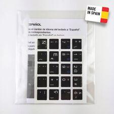 Pegatinas conversión teclado inglés a español.