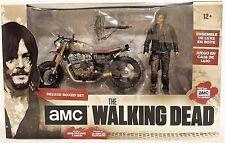 Daryl Dixon w/ New Custom Bike AMC The Walking Dead McFarlane Boxed Figure Set