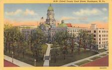 HUNTINGTON, WV West Virginia    CABELL COUNTY COURT HOUSE   c1940's Postcard