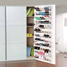 Over-The-Door Shoe Rack 36 Pair Wall Hanging Closet Organizer Storage Stand US