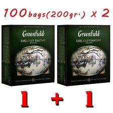 2 pcs. Greenfield Earl Grey Fantasy 100 Tea Bags / 200g Black Tea (bergamot)