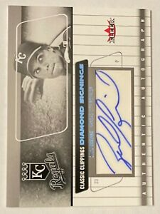 Zack Greinke 2005 Classic Clippings Diamond Signings Card Auto AU Card Royals