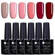 6Pcs/Set UR SUGAR 7.5ml Nail UV Gel Polish Red Series Nail Art Soak Off UV/LED