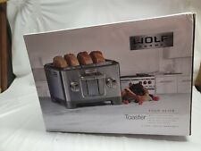Wolf Gourmet 4-Slice Extra-Wide Slot Toaster with Shade Selector Multi-Settings