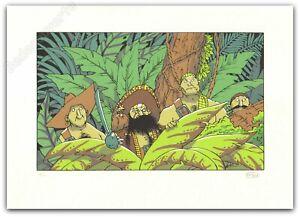 Affiche Sérigraphie Masbou De Cape et de Crocs Pirates signée 22,4x31,5 cm