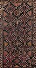 Antique Geometric Traditional Oriental Area Rug Evenly Low Pile Hand-knotted 4x8