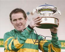 Horse Racing: Sir A.P. Tony McCoy Signed 10x8 Trophy Action Photo+Coa