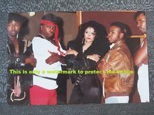 Vtg 80's Photo of Latoya Jackson Posing With Full Force Singers/Dancers/Guys F24