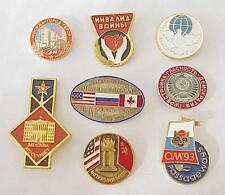 1960 RUSSIAN SOVIET MILITARY ARMY BADGE ENAMEL PIN ORDER MEDAL GOLD SILVER AWARD