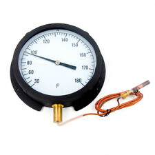 """13G221 8-1/2"""" Analog Panel Mount Thermometer 30 to 180°F"""