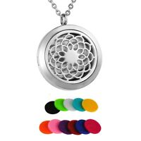 New Diffuser Locket Pendant Aromatherapy Essential Oil Perfume Necklace Chain NG