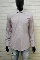 HUGO BOSS Camicia Uomo Taglia 40 15 3/4 M SLIM Maglia Camicetta Shirt Hemd Righe