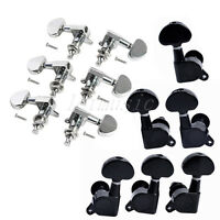 2 Sets of 3L3R guitar tunning pegs Tuners Machine Heads Black Chrome