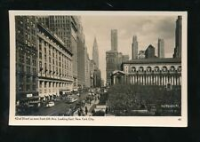 USA NEW YORK CITY 42nd Street looking east c1920/30s? RP PPC