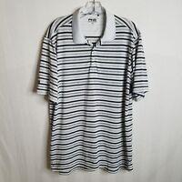 Ping SensorCool Golf Mens Polo Short Sleeve Striped Polyester Shirt Large R201