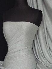 Gris oscuro jaspeado Algodón Lycra Jersey tejido elástico Q35 Mgr