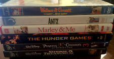 6 Family DVD's MOVIE NIGHT! Pirates Of The Caribbean Wallace & Gromit Ants + 2