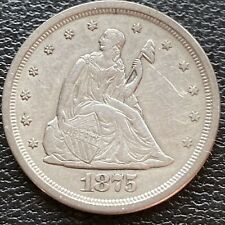1875 S Twenty Cent Piece 20c San Francisco RARE High Grade AU - UNC #24127