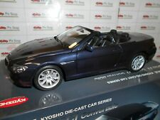 KYO08702NB by KYOSHO BMW 645CI CONVERTIBLE NAVY BLUE MET. 1:18