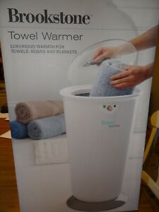 NEW Brookstone Towel Warmer holds 2 large towels, or a robe or blanket