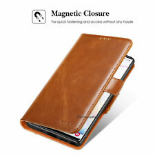 Magnetic Leather Brown Wallet Phone Case Flip Cover For Samsung Galaxy iPhone LG