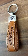 FORD  Keyring FOCUS FIESTA  Key ring Brown ECO Leather Key chain Key Fob NEW